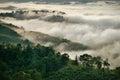 Fog mountain Royalty Free Stock Photo