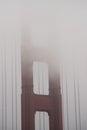 Fog over Golden Gate Bridge, San Francisco Royalty Free Stock Photo
