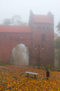Foggy day at Kwidzyn castle Royalty Free Stock Photography