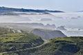 Foggy morning at Bodega Bay, Sonoma County, California, USA. Royalty Free Stock Photo