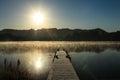 Foggy Morning Lake 7 Royalty Free Stock Photo