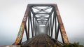 Foggy Morning Railway Bridge. ...