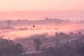 image photo : Foggy mystic morning