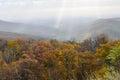 Fogliame di autunno nel parco nazionale di shenandoah virginia united states Immagini Stock