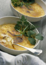 Foie gras and peanut Cr?me br?l e Royalty Free Stock Images