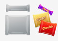 Foil packaging plastic package chocolate wafers sweets or candy pack easy editable elements are layered separately just select Stock Images