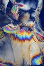 Foil in polarized light Royalty Free Stock Photo