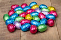 Foil wrapped chocolate Easter eggs Stock Photography