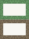 Foilage frames different patterns that frame an area for your text Royalty Free Stock Photos