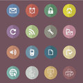 Fold paper icon basic flat set for web and mobile application Stock Photos