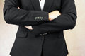 Folded arms business concept with Royalty Free Stock Photo