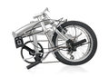 Folded bike collapsible folding bicycle Royalty Free Stock Photos