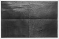Folded black paper in 4 parts with white background Royalty Free Stock Photo