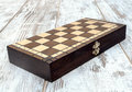Folded chessboard Royalty Free Stock Photo