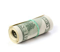 Folded dollars Royalty Free Stock Photography