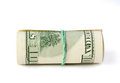 Folded dollars Stock Photo