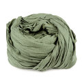 Folded Green Neck Scarf  on White Background Royalty Free Stock Photography