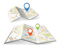 Folded maps Royalty Free Stock Photo