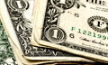 Folded money close up of united states dollar bills Royalty Free Stock Photography