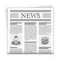 Folded newspaper news with articles. Royalty Free Stock Photo
