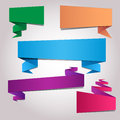 Folded paper blank colorful sticker templates Stock Photography