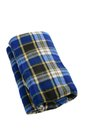 Folded plaid Stock Image