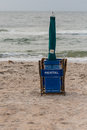Folded Rental Beach Chair Royalty Free Stock Photo