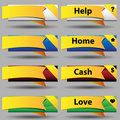 Folded Ribbon Button Set Stock Photography