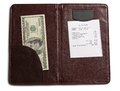 Folder with bill and money Royalty Free Stock Photo