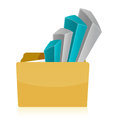 Folder Business graph Royalty Free Stock Photo