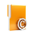 Folder with copyright sign d render of computer Stock Photo