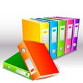 Folder file vector illustration of colorful hardbound Stock Photography
