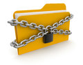 Folder with files and lock clipping path included folders image Stock Images