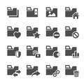 Folder icon set 2, vector eps10 Royalty Free Stock Photo