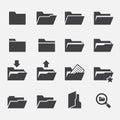Folder icon Royalty Free Stock Photo