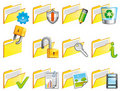 Folder icons Stock Photo