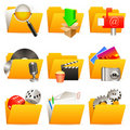 Folder icons. Royalty Free Stock Photo