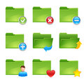 Folder icons Royalty Free Stock Image