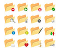 Folder icons set of file isolated on white Royalty Free Stock Images