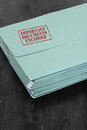 Folder important documents enclosed with stamped on it Royalty Free Stock Image