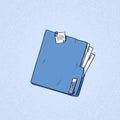 Folder Orange Paper Document File Sketch Retro Royalty Free Stock Photo