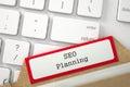 Folder Register with SEO Planning. 3D.