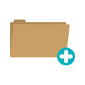 Folder with symbol add more Royalty Free Stock Photo