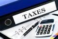Folder with taxes