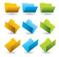 Folders icon template. Stock Images