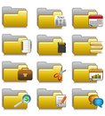 Folders Set - Office Applications Folders 20 Royalty Free Stock Photos