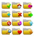 Folders Set - Web Media Applications Folders 02 Royalty Free Stock Photo
