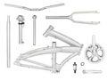 Folding bike parts Royalty Free Stock Photo