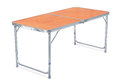 Folding camping table isolated on white Royalty Free Stock Images