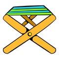 Folding chair icon, icon cartoon
